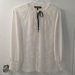 Juicy Couture lace pirate shirt with gold buttons